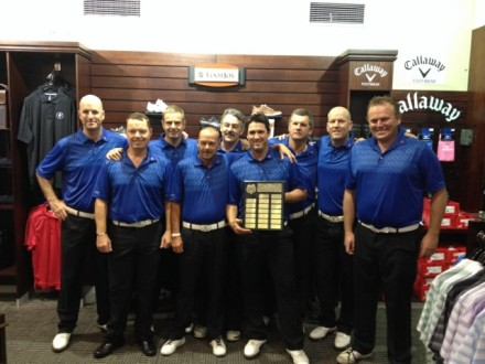 The victorious Western Province team, winners of the 2013 SA Mid-Amateur Inter-Provincial at Durban Country Club; credit WPGU