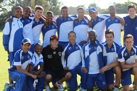 The 2013 SWD Academy intake with Protea and Warriors batsman, Colin Ingram (front row 3rd from left).