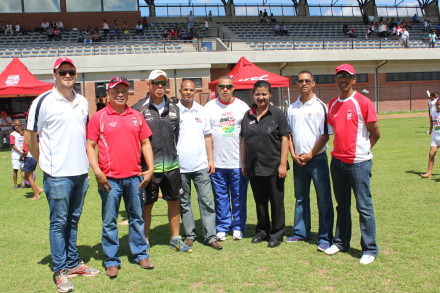 Present were Ryan Cumming (Playmakers: KFC), Johan Weyers (Manager Amateur Cricket, SWD Cricket Board), Adrian McLaren (SWD provincial player), Shael Laminie (SWD Cricket Board Executive Committee Member), Francois Visagie (SWD Schools Sport:  Executive Committee member), Hawia van Reede (Manager KFC Store, Oudtshoorn), Gary Moos (Mini Cricket Co-ordinator: SWD Cricket Board), David Makopanele (Youth Cricket Coordinator)