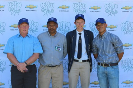 Capping U/15;  David Pryke (head coach), Marco Paulse (team manager), Joshua Klue (captain) and Merlin Masimela (assistant coach) of the SWD u/15 team for the CSA National U/15 week in Johannesburg.