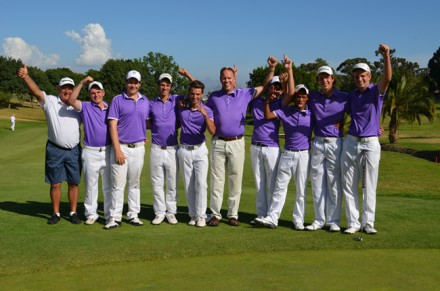 The victorious Southern Cape team who earned A-Section promotion at the 2013 South African Junior Inter-Provincial at Bellville Golf Club; ; credit Deon Smit, Immanuel Photography.