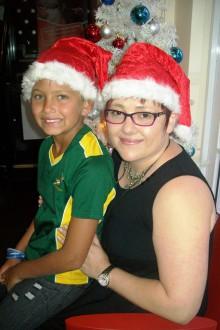 Jay-Dee Van Loggerenberg receives gift just in time for Christmas from Algoa FM News journalist Doreen Loubser