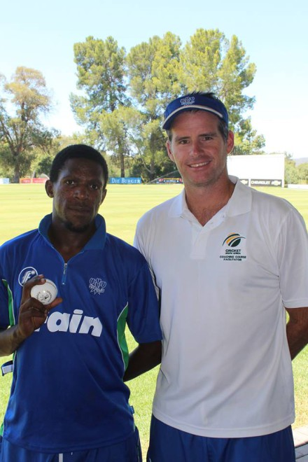 Caption: Siviwe Gidana (left) who will make his SWD debut this weekend with coach, Garry Hampson