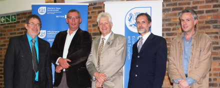 From left to right: Francois Redelinghuys, Imel Rautenbach, Min Alan Winde, Herman Labuschagne, Justin Miles