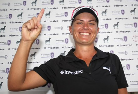 Investec Cup for Ladies champion, Lee-Anne Pace; credit Luke Walker.