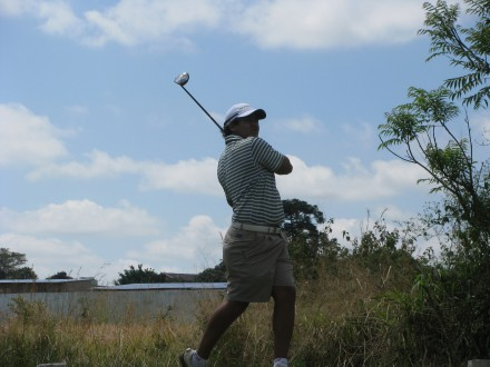 South Africa's Hennie du Plessis in action at the All-Africa Junior Golf Championship at Chainama Hills Golf Club in Lusaka, Zambia; credit Lali Stander.