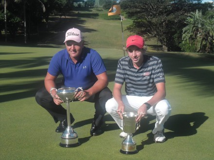 PHOTO - Reigning Nomads SA Boys U-19 Stroke Play and Match Play champions, Tristen Strydom and Paul Boshoff will represent Ekurhuleni at the SA U-23 Inter-Provincial; credit SAGA.