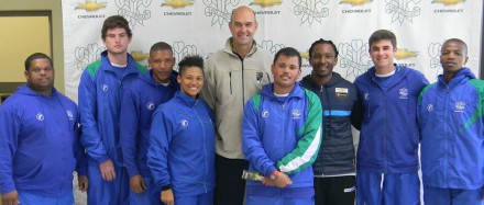 .  Present were:  André du Plessis (SWD High Performance Coach and Academy Manager), Deon Viviers, Otniel Baartman, Bianca Figeland, Piet Botha, Lance Roelfse, Maligongwe Maketa, Richard Maree and Bonginkosi Mafika