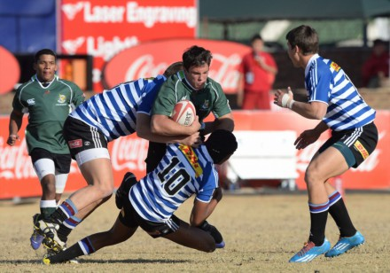 Le-Roux-Baard runs at the opposition in Wednesday's win over WP.