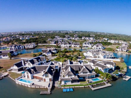 View of the canals at St Francis Bay