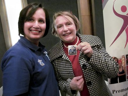 Casual Day office manager Faheema Granville and WC Premier Helen Zille