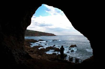Mossel Bay's Pinnacle Point Cave 13b. The caves at Pinnacle Point have revealed the earliest evidence for modern human behaviour, and have been included in a group of similar sites around South Africa which will be put forward for World Heritage Site status.