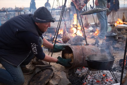 Braai Time.  Photo: Cooked in Africa Films.  Louis Hiemstra