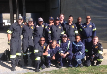 ire and Rescue staff who attended the course. Back fltr:  Emile Conrad( Eden DM), David van Niekerk (Eden DM), Mzuzile Makaleni (Instructor from City of Cape Town), Morne Stuurman (Eden DM), Heinrich Jordaan (Mossel Bay Fire & Rescue), Rudi Groenewald (Witzenberg Municipality), Armien Bailey (Eden DM), Mzwandile Nelani (Eden DM) and Charles Rowini (Instructor from City of Cape Town). Front fltr: Denver Moses (Eden DM), Virgil Frans (Mossel Bay Fire & Rescue), Adrian Cairns (Mossel Bay Fire & Rescue), Nicole Cloete (Ceres Municipality) and Jano Minnie (Eden DM).