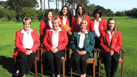 The youthful Gauteng B team made a huge statement at Royal Cape Golf Club on Thursday; credit WGSA.