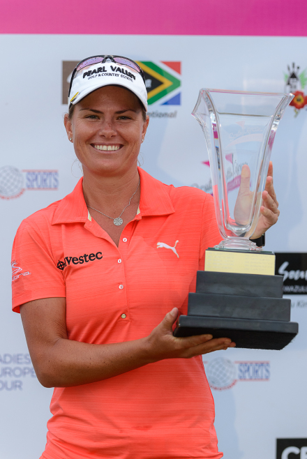 South Africa's Lee-Anne Pace won the Cell C SA Women's Open in a playoff at San Lameer Country Club on Sunday. Credit: Justin Klusener.