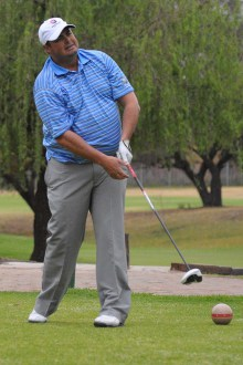 A crucial halve from Staffie Barnard helped Southern Cape to square their match against Gauteng North on day two of the South African Mid-Amateur Inter-Provincial at Middelburg Country Club; credit Dale Boyce