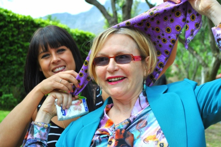 Tarryn Corlett CEO of The Sunflower Fund and Patron Premier Helen Zille