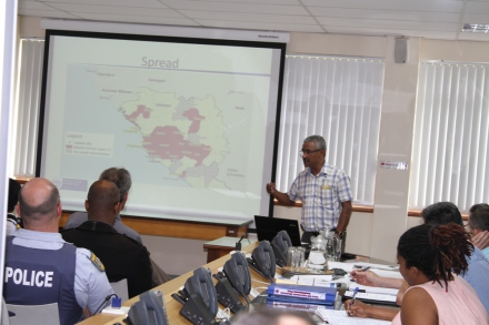 Mr Manie Abrahams from the Department of Health presented an overview of the current status of the EBOLA outbreak.