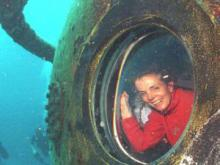 Dr Sylvia Earle, pictured in Aquarius, the worlds only underwater habitat, in the Florida Keys National Marine Sanctuary in the US, is on her way to South Africa.