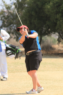 Vanessa Smith from Milnerton carded an opening 74 to lead the A-Division at this year's South African Women's Mid-Amateur Championship at Irene Country Club; credit WGWP