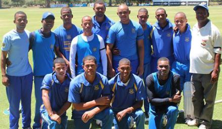 The team of Union Stars that advanced to the quarter finals of the Sedgars Twenty20 competition after they defeated Pacaltsdorp United in the quarter final's on Sunday.  Back Row: Geofrey Perel, Jacques Campher, Cresendo Maksella, Elridge Booysen, Anver Venter, Marcello Piedt, Ottniel Baartman, Douglas Baartman, Jean Heunis, Goliath Ewerts (Team Manager) Front Row: Leroy Bredenkamp, Pieter Stuurman (Captain), Justin Jordaan, Brendon Louw