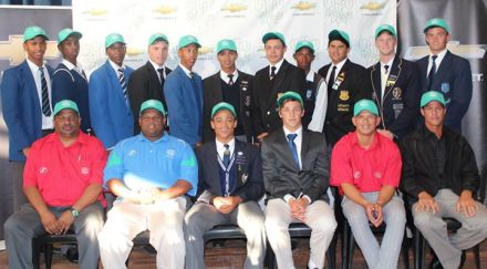 Back Row: Elrick Pretorius (Langemhoven Gymnasium), Mihlali Gcanga (Imizamo Yethu), Lindile Gege (Thembalethu High), Arno Bouwer (Outeniqua High), Dillan Nuys (Langemhovem Gymnasium), Eldin Rossouw (Oudtshoorn High), Jaco Janse van Rensburg (Outeniqua High), A. Mapono, Levin Muller (Outeniqua High), Gary Wagner (Glenwood House), Drikus Visagie (Point High) Front Row: Eugene Du Plessis (Team Manager), Andre Du Plessis (Coach), Jeun Heunis – Captain (Langenhoven Gymnasium), Chris Marrow – Vice Captain (Oakhill School), Merlin Masimela (Assistant Coach), Pieter Stuurman (Assistant Coach)