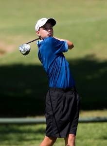 Western Province's Luca Filippi helped the team to an 8.5 – 3.5 victory in the fourth round of the South African Under-19 Inter-Provincial at Krugersdorp Golf Club; credit Rogan Ward.
