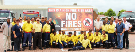 The various role-players from Eden District Municipality, Southern Cape Fire Protection Agency, WOF, San Parks, Cape Nature, Cape Pine and the B-Municipalities, after the pre-season discussions held at the EDMC.