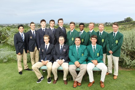 The South African and French teams at St Francis Links; credit Charl Blaauw
