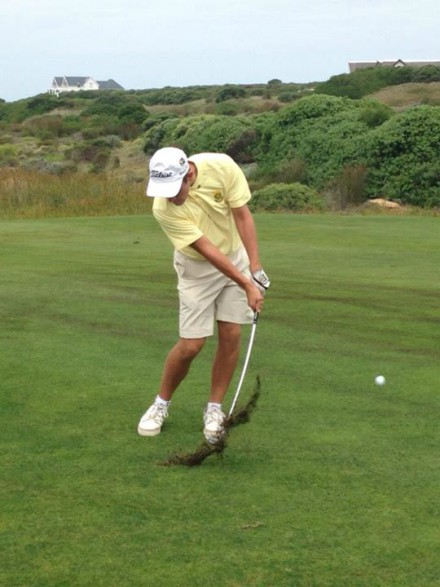 Jovan Rebula from Southern Cape in action during the second round of the two-day Test against France at St Francis Links; credit SAGA