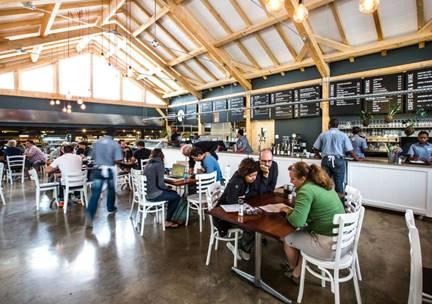The new look restaurant at Peregrine Farm Stall. Image courtesy of Daniela Zondagh