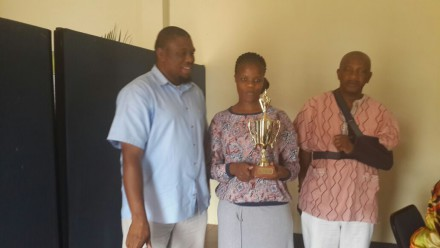 The George EHP office was the overall winner in their category.  The trophy was handed to Ms Khanyisa Shoto, Safety Representative of the office and Mr Clifford Mdingi, Chief:  Municipal Health Services at the George office.