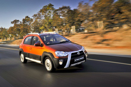 Toyota's new Etios Cross: its DNA comes from the Etios Hatch and sedan. Picture: QuickPic