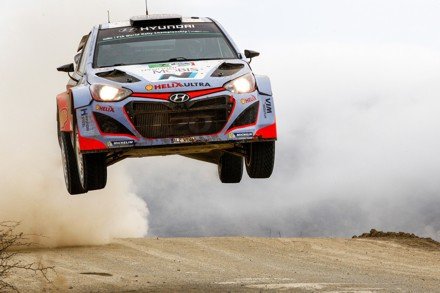 Thierry Neuville driving the Hyundai i20, at Rally Mexico. Picture: QuickPic