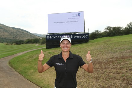 Chase to the Investec Cup for Ladies champion, Lee-Anne Pace; credit Carl Fourie