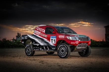 Castrol Team Toyota: confident in their new spec Hilux. Picture: QuickPic