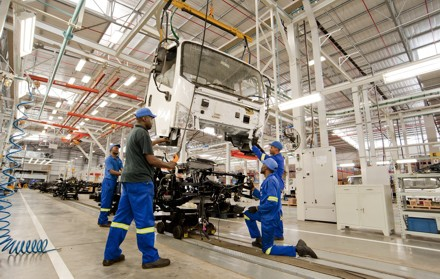 The assembly plant at Coega: production of the Tiger will soon be in full swing