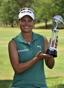 Ladies Tshwane Open champion Lee-Anne Pace; credit Catherine Kotze / SASPA