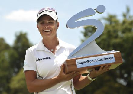 SuperSport Ladies Challenge winner, Lee-Anne Pace; credit Catherine Kotze / SASPA