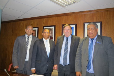 Executive Mayor of George, Charles Standers, Provincial Minister of Finance, Dr Ivan Meyer, Provincial Minister of Transport and Public Works, Donald Grant and Executive Mayor of Eden District Municipality Wessie VD Westhuizen.