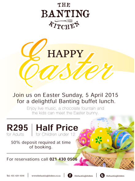 The Banting Kitchen Easter Promotion