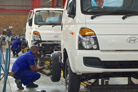 The assembly line at Hyundai's plant on the East Rand. Picture: QuickPic