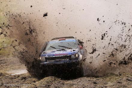 Lance Woolridge and Ward Huxtable: muddy business. Picture: Colin Mileman