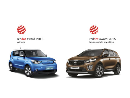 The Kia Soul EV and the Kia Sorrento: honours in premier world design competition.  Picture: QuickPic