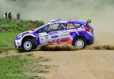 Ford's rally team Mark Cronje and Robin Houghton in the Fiesta. Picture: QuickPic