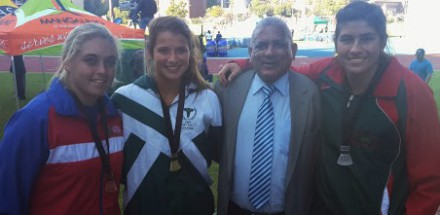 Kelsy-Ann Mostert (LIMA - BRONZE) – Jo-Ané Van Dyk (ASWD - GOLD) –  Moses Gericke (ASWD President) – Zané Fourie (ACNW – SILVER)  (Zané marticulated from Outeniqua High School 2014)