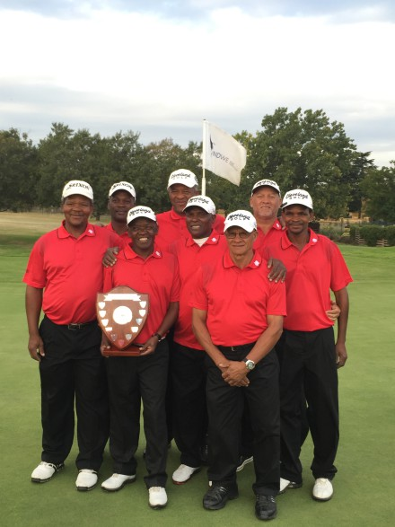 The victorious Eastern Province team claimed B-Section promotion in the 27th INDWE SA Senior Amateur Inter-Provincial; credit Ernest Blignaut