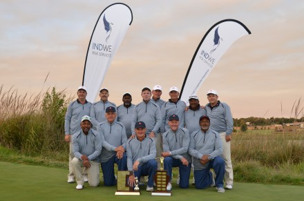 The victorious Western Province Senior and Super Senior teams celebrated double victories in the 27th INDWE SA Senior Amateur Inter-Provincial; credit Ernest Blignaut