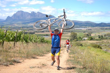 Mountain bikers will delight in an exclusive five-star experience when they take on the inaugural Liberty Cape Winelands MTB Encounter in the Boland from April 17 to 19. Photo: Jetline Action Photo